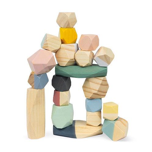 מגדל קוביות דמוי אבנים
