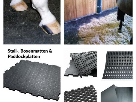 Jetzt online: Stall-, Boxenmatten & Co.