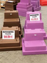 La Gée Aufsteighilfen mit Träger für Hindernisstangen