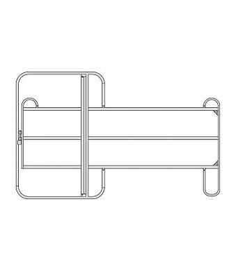 Weidepanel 300cm x 170cm mit Tür 3rohrig