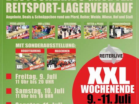 9. - 11. Juli: Das Reiterlive XXL-Wochenende mit verkaufsoffenen Sonntag... 🎉💥🐴