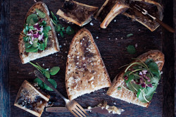 France-Tartines of Roasted Bone Marrow with Pickled Red Onions and WatercressRoasted Bone Marrow 1
