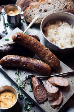 Germany + Russia Butterbrote of Sauerkraut, Sausage and Cheese 2