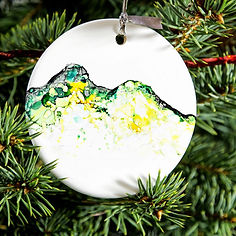 ceramic catbells lake district bauble .J