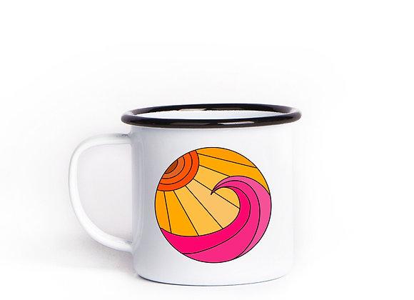 GYOW Sunset Waves Enamel Mug