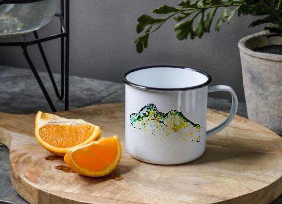 Catbells in Ink. Mug, Coaster and Ceramic Hanging