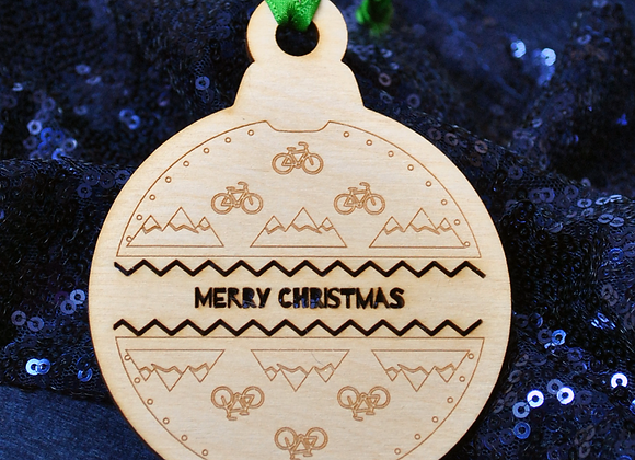 Hiking and Cycling Tree Ornaments