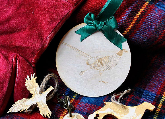 Pheasant Tree Ornament