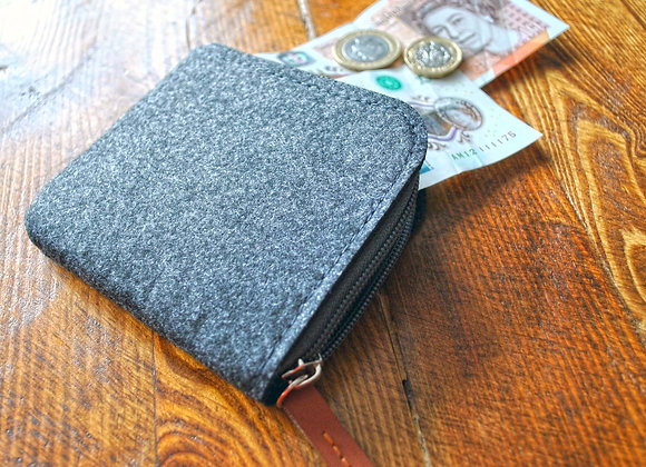 Wool Felt and Leather Wallet
