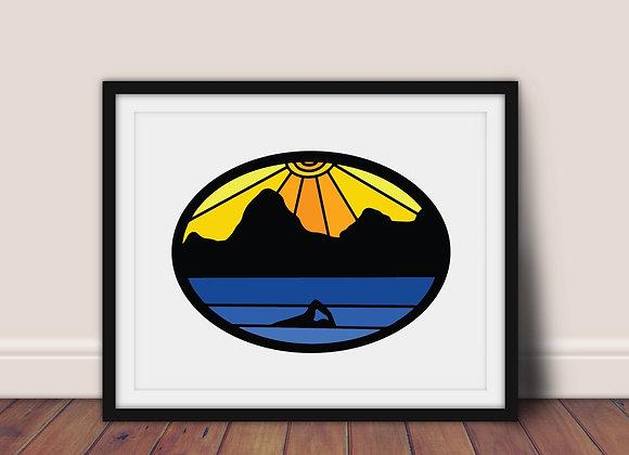 GYOW Wild Swimming A4 Art Print
