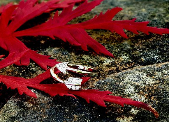 Adjustable Silver Arrow Ring
