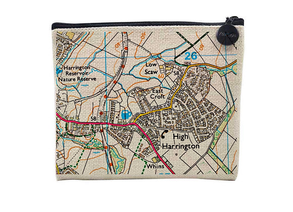 Personalised Map Coin Purse