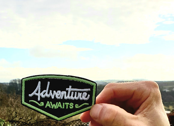 Adventure Awaits Patch, Embroidered Badge, Hiking Patch,Hiking Gift