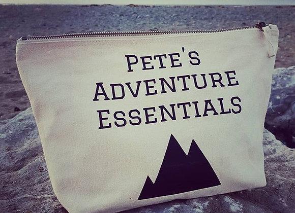 Personalised Canvas Adventure Wash Bag
