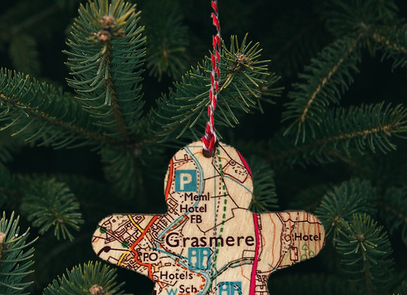 Gingerbread Man Map Decoration
