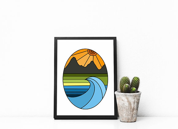 GYOW Oval Landscape Art Print