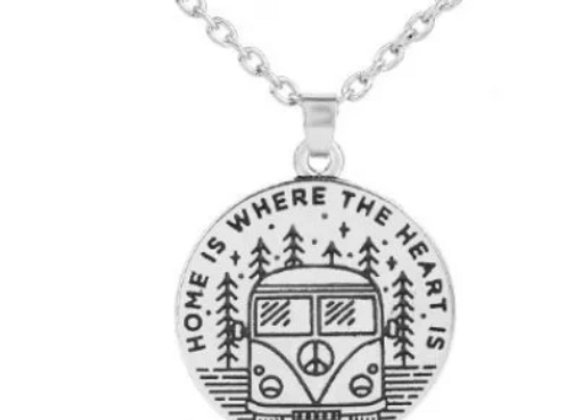 """Home is where the heart is"" Necklace"