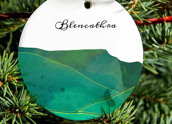 Lake District Fell Water Colour Ceramic Tree Ornament
