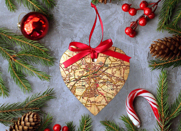 Personalised Wooden Map Heart