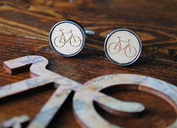 Wooden Cycling Cufflinks