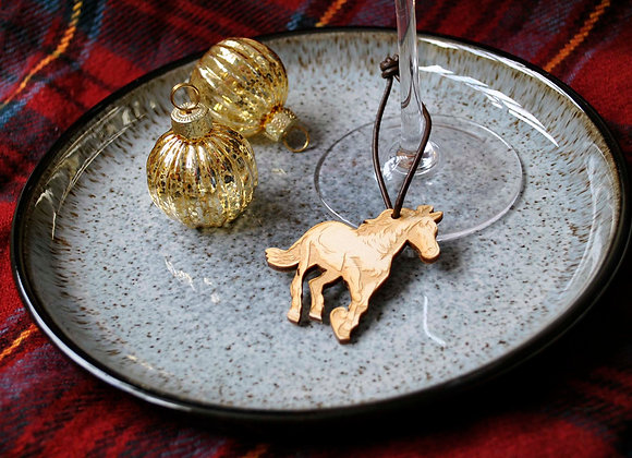Horse Table Wine Glass Charms