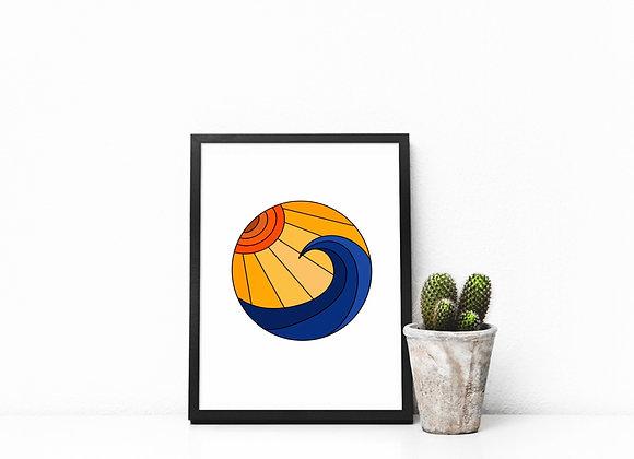 GYOW Sunset Waves Art Print