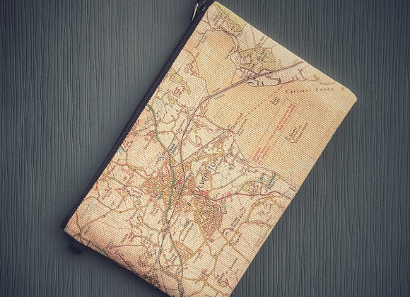 Personalised Map Travel Pouch