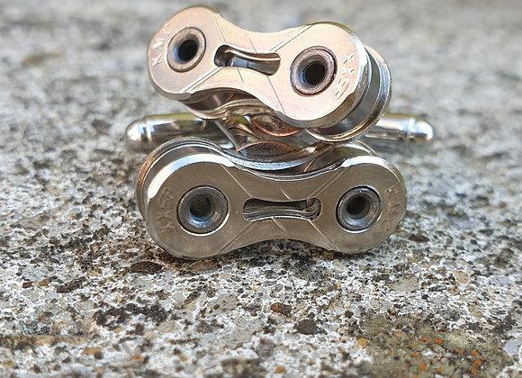 Upcycled Bike Chain Cufflinks