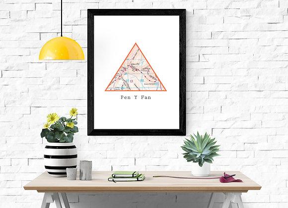 Summit/Fell Map Print