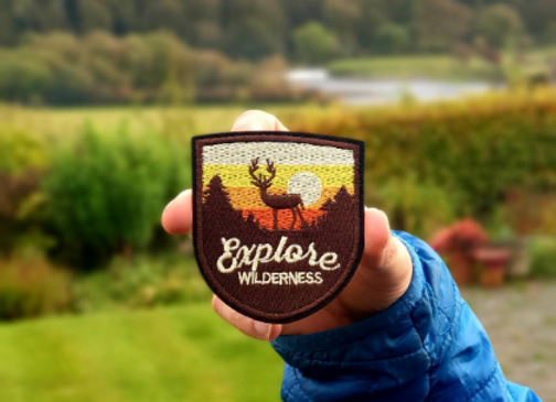 Explore Wilderness Adventure Patch, Embroidered Badge Hiking Patch