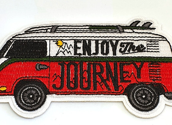 Enjoy the Journey  Adventure Patch, Embroidered Badge, Applique, Hiking Patch