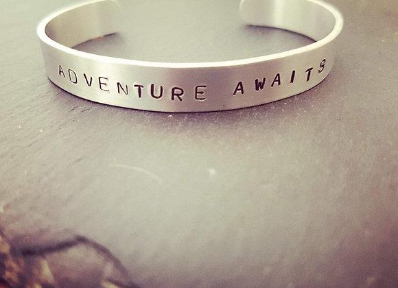 Hand stamped bracelet cuff