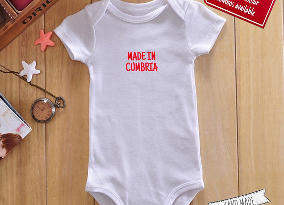 Made in Cumbria Babygrow
