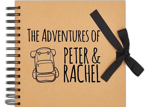 DIY Adventure Journal, Personalised Scrapbook, Photo Album