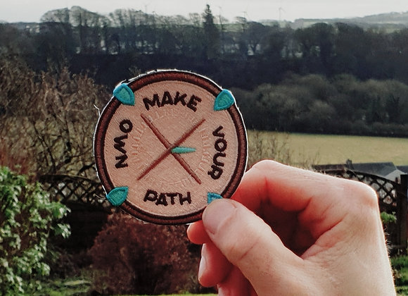 Make Your Own Path, Compass Adventure Patch, Applique, Hiking Patch