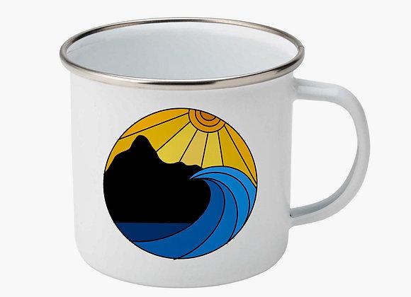GYOW Sunset Landscape Enamel Mug
