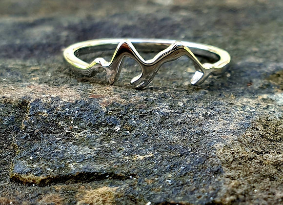 Sterling Silver Mountain Ring