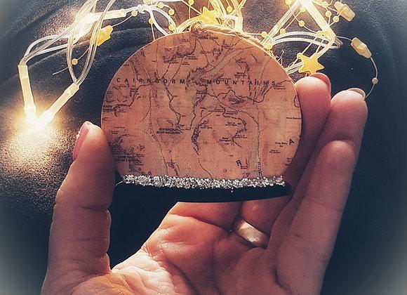 Personalised Map Snowglobe Tree Ornament