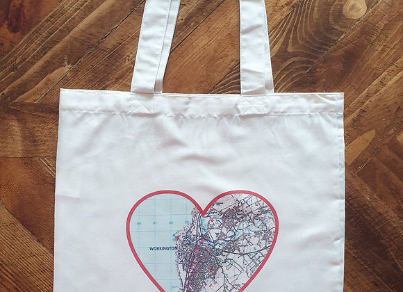 Personalised Map Tote Bag