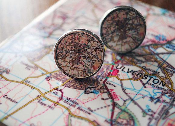 Location Map Cufflinks