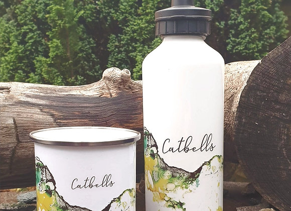 Catbells In Ink Aluminium Water Bottle