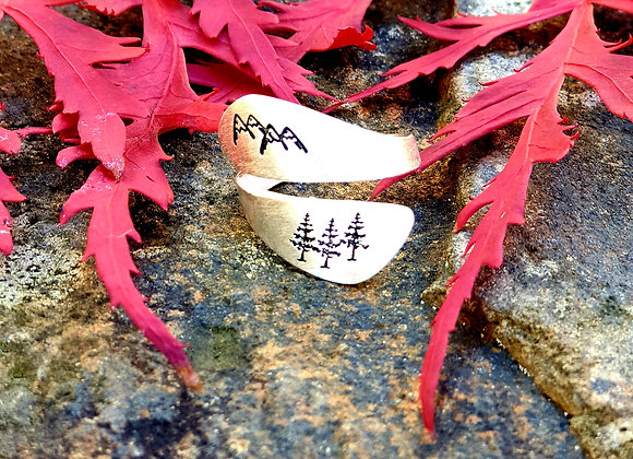 Mountains and Forest Adjustable Ring