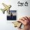 Thumbnail: Personalised Travel Map Aeroplane Fridge Magnet