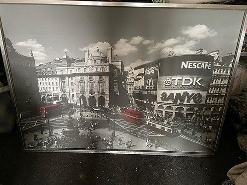 Set of 2 Various City Framed Canvas Pictures