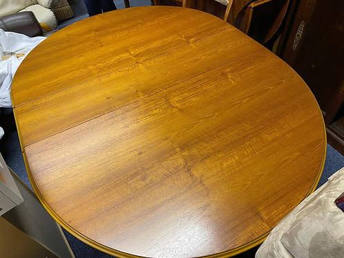Rossmore Teak Drop Leaf Dining Table & Four Dining Chairs