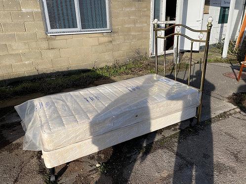 Single Divan Bed with Unused Mattress