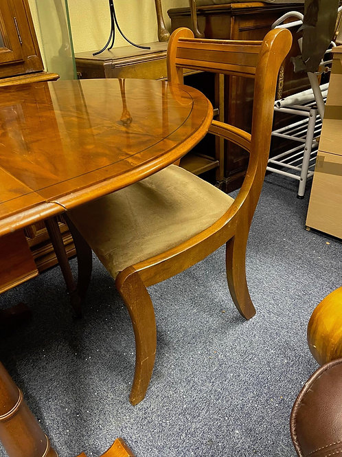 Veneered Leaf Table & Dining Chairs