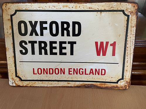 Oxford Street Sign Decorative Garden Sign