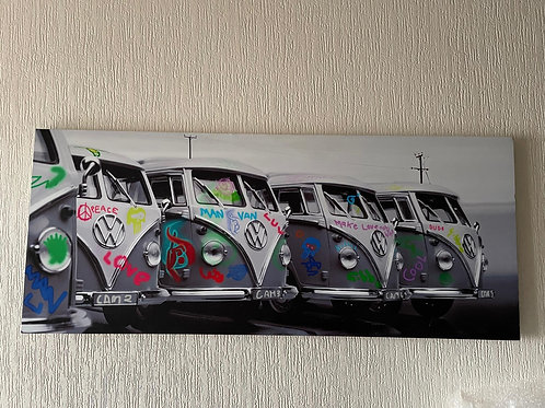 A Pair of VW Campervan Canvases