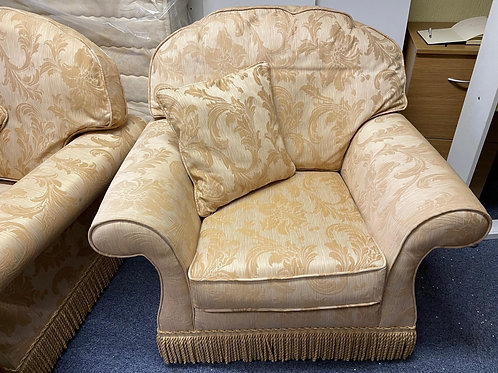 Pair Of Beautiful Gold Armchairs